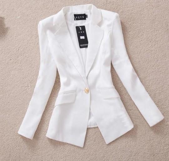 Elegancka biała marynarka, kliknij w zdjęcie i zobacz gdzie można ją kupić !