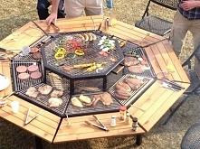 Grill + stolik