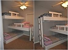 Pomysłowe piętrowe łóżko