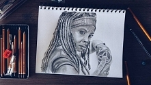 Michonne :) Instagram: @monikaaart