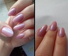 057 Nude Beige Rose & syrenka na wszystkich paznokciach