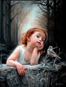 *** Dziewczynka z ptaszkiem