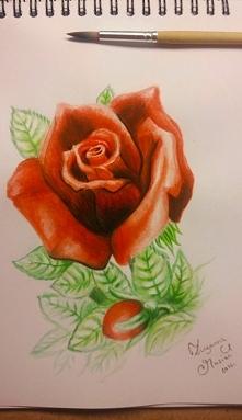 Mój pierwszy kwiat... farbami