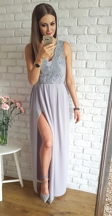 Ekskluzywna długa sukienka z gipiurą <3 piękna <3 Illuminate
