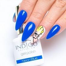 A może Johnny Bravo jako akcent? ;) Gel Polish 'Neon Blue'