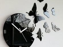 Zegar scienny motylki