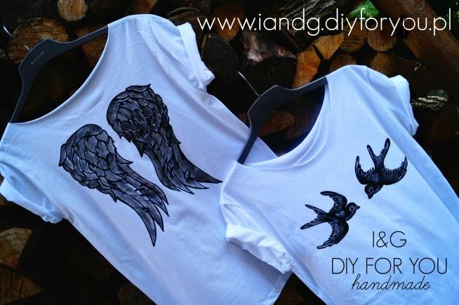 Koszulki malowane ręcznie I&G DIY FOR YOU