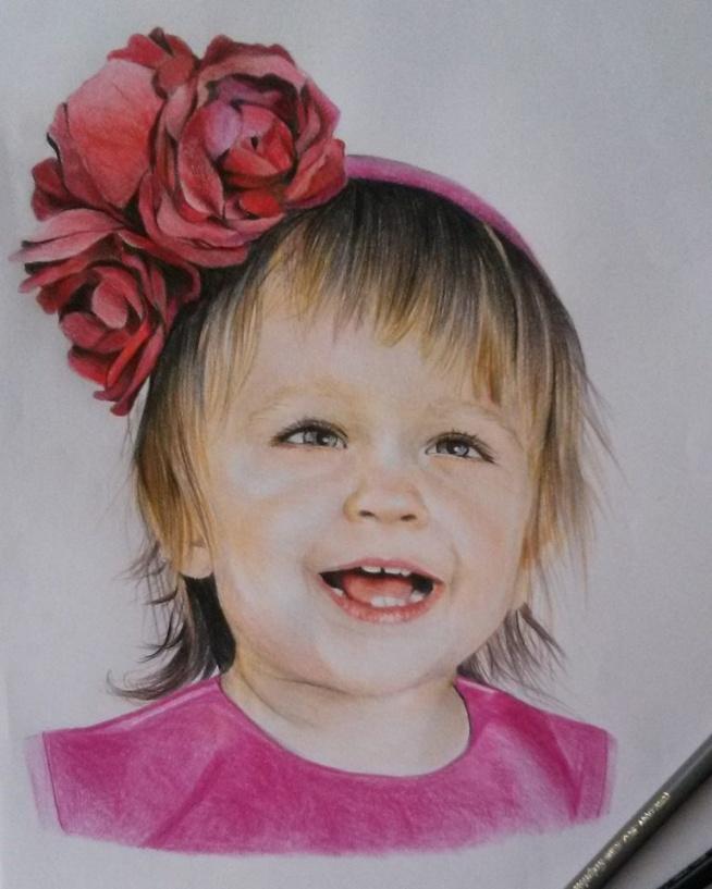 portret mojej siostrzenicy skończony ;) Rysunki/portrety na zamówienie: karolinaburakowskaa@gmail.com