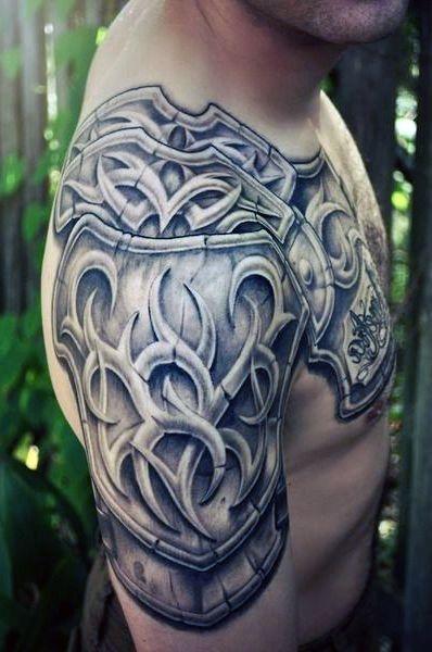 Tatuaże Męskie Zbroja Na Ramie Na Tatuaże Zszywkapl