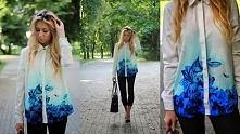 Piękna koszula ombre mój nowy nabytek :)