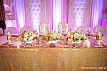 Dekoracje stołów, dekoracje stołu pary młodej