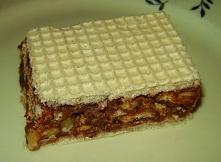 Andrut z masą czekoladową z petit beurre'ami i bakaliami