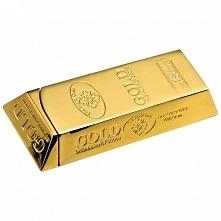 Pomysłowa automatyczna zapalniczka do wielokrotnego napełniania przypominająca sztabkę złota.