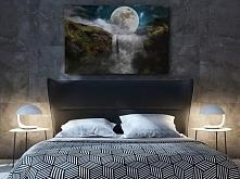 Księżyc w nowiu - nowoczesny obraz na płótnie