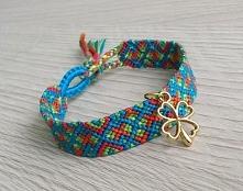 """friendship bracelet """"for luck"""""""