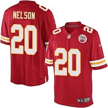 Youth Kansas City Chiefs Nike NFL Limited Steven Nelson Red #20 Jerseys Home