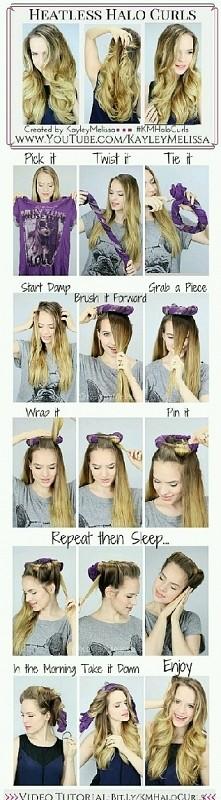 Sposób na kręcone włosy bez użycia ciepła