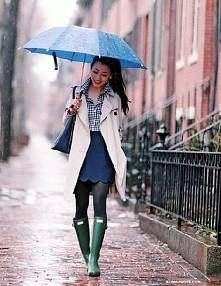 cudowna stylizacja na deszczowe dni ♡