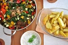 Udka z kurczaka z warzywami...