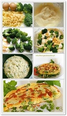 Puszysty omlet z brokułami