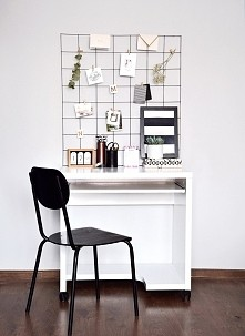 Piękna metamorfoza biurka. Domowy kąt do pracy stworzony od podstaw za mniej ...