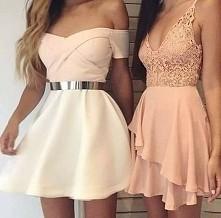 Brzoskwiniowe/pudrowe sukienki *.* .... Macie może linki z stronkami do sukienek?