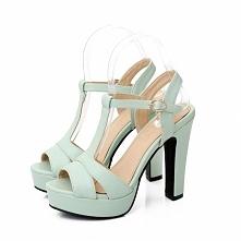 Miętowe sandały na platformie, dostępne również inne kolory! KLIKNIJ w zdjęcie i zobacz gdzie kupić