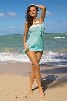 Sklep Allettante.pl dział kostiumy kąpielowe.  Seksowna tunika plażowa, która z powodzeniem zastąpi Ci pareo. Wykonana z lekkiej, delikatnej, włoskiej dzianiny. Elastycznej i ba...