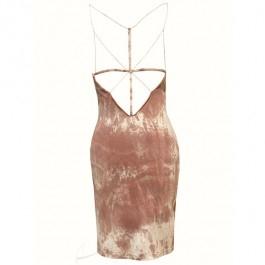 Sukienka mini z dżerseju. Tył ażurowy, sukienka na ramiączkach. Do zamówienia w dowolnym rozmiarze w butiku Łatka fashion.
