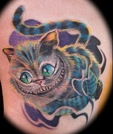 alice in wonderland cat tattoo