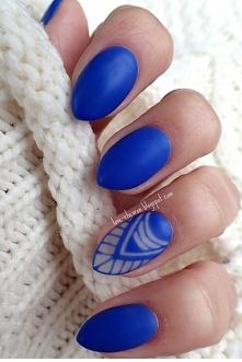 Negative space nails oraz matowe wykończenie <3 Moje nowe pazurki :) (więcej >> klik w obrazek)