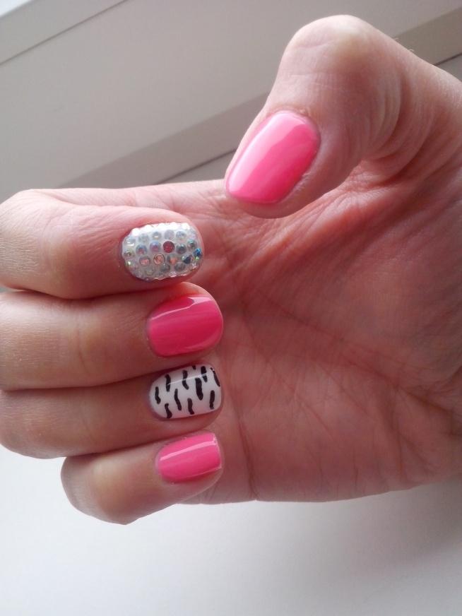 Moje wykonanie :) Hybrydowe paznokcie <3