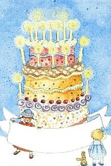 na urodziny dla dzieci - decoupage/scrapbooking