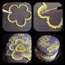 dekoracje, ciasto
