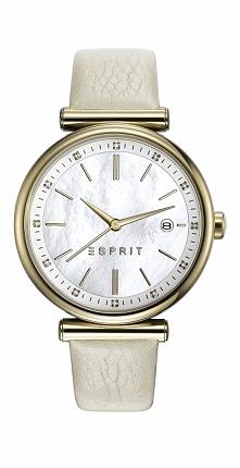 Damski zegarek na skórzanym pasku stylowy Esprit ES108542003  Możliwość zakupu, link w komentarzu :)