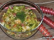 Sałatka z zielonej sałaty, ...