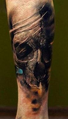 czaszka tatuaż