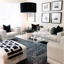 czarno-biały salonik