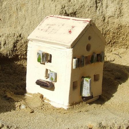 Świecznik na tealight - Piaskowy Domek