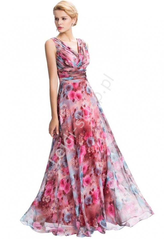 Długa Suknia W Kwiaty Lejdiskleppl Na Długie Suknie Zszywkapl