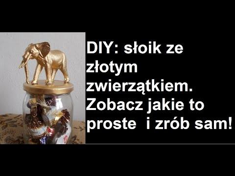 DIY: słoik ze złotym zwierzątkiem  bardzo ciekawy pomysł na zrobienie tak efektownej ozdoby oraz pojemnika na słodycze :) podoba Wam się?