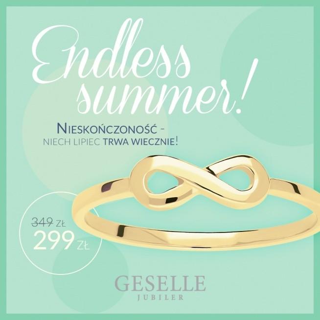 Letnia promocja kolekcji NIESKOŃCZONOŚĆ - ręcznie wykonane pierścionki w niższej cenie 299 zł!