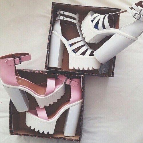 white & pink.