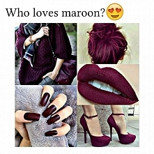 maroon bordowy