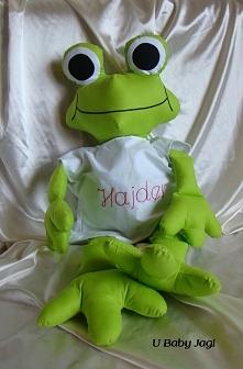 Żaba personalizowana Wysokość - 75 cm Materiał - bawełna Cena - 60 złotych