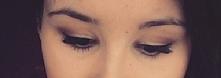 make up, long for lashes, złoto i brąz, eyeliner