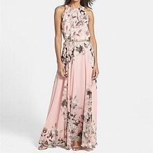 suknia sukienka zwiewna na lato maxi - kliknij na zdjęcie