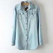 Koszula jeansowa, klasyczna w kropeczki. Po kliknięciu w zdjęcie wejdziesz do...