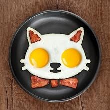 Pomysł na śniadanie: kotek! Wystarczą dwa jajka, a żeby się dowiedzieć jak zr...
