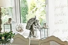 dekoracje  salonu w stylu Hampton, dekoracyjna figura  - głowa konia, dekorac...